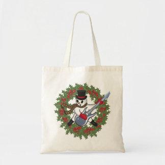 Rockin' Snowman Tote Bag