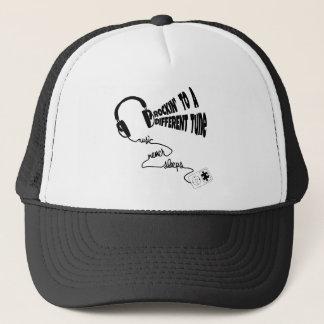 Rockin' to a Different Tune - Music Never Sleeps Trucker Hat