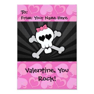Rockin' Valentine Skull 9 Cm X 13 Cm Invitation Card