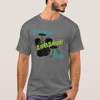 Rocking Awesome Dad T-Shirt