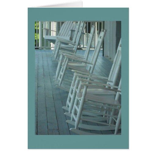 Rocking chair fun card