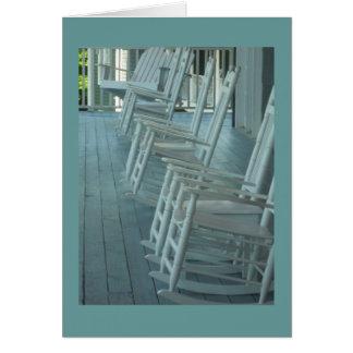 Rocking chair fun greeting card