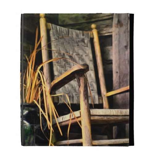 Rocking Chair on Porch iPad Folio Covers