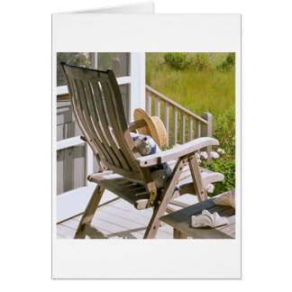 ROCKING CHAIR OR ROCK AND ROLL BIRTHDAY WISHES GREETING CARD