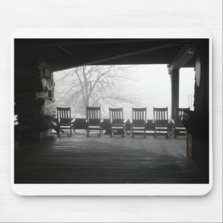 Rocking chairs on porch mouse pad