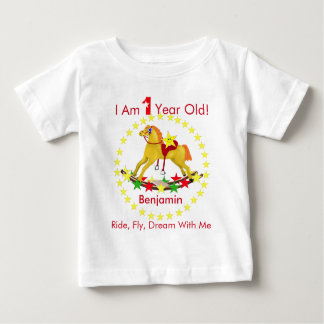 Rocking Horse 1st Birthday Party Baby T-Shirt