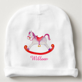 Rocking horse add your own name baby girl beanie baby beanie