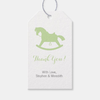 Rocking Horse Baby Shower Personalized Gift Tags