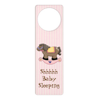 Rocking Horse Baby Sleeping Door Hanger