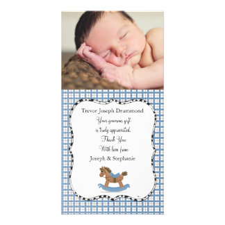 Rocking Horse Baby Thank You Photo Card