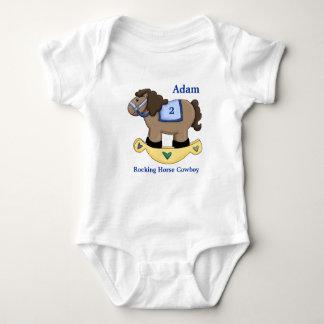 Rocking Horse Blue Infant Creeper