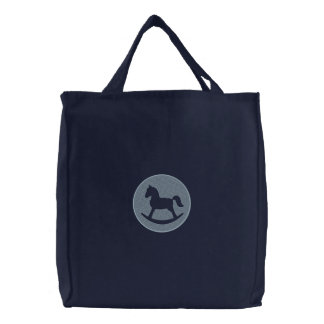 Rocking Horse Embroidered Tote Bags
