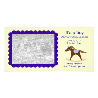 Rocking Horse It s a Boy Photo Card