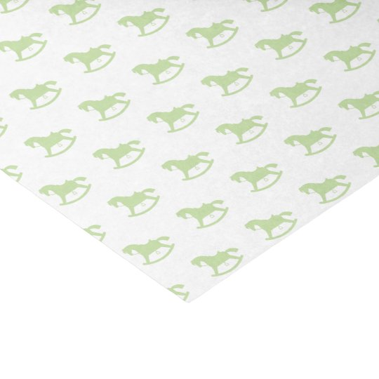 Rocking Horse Silhouette Tissue Paper Green