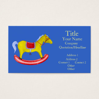 Rocking Horse - Traditional Toys (Primary Colours) Business Card