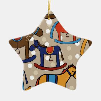 rocking horses christmas ornament