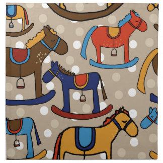 rocking horses napkin