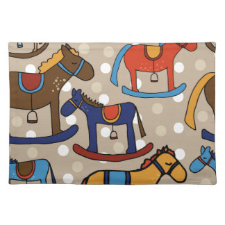 rocking horses placemat