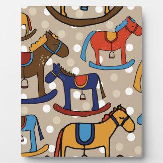 rocking horses plaque