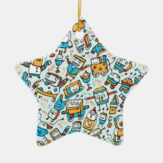Rocking Little Robots Blue Star Ornament