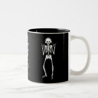 Rocking Skeleton Two-Tone Coffee Mug