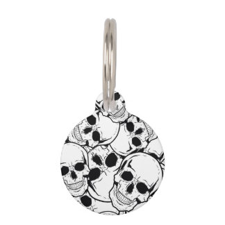 Rocking Skull Pet Nametag