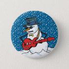 Rocking Snowman 6 Cm Round Badge