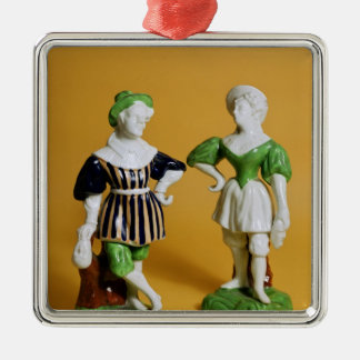 Rockingham figurines from the Commedia Christmas Ornament