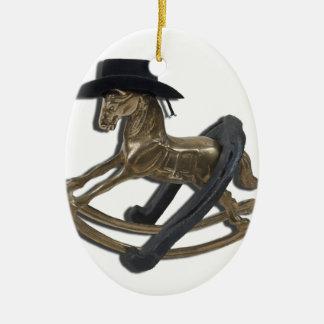 RockingHorseCowboyHatHorseShoe122312 copy.png Christmas Ornament
