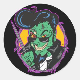 RockitJohnny_Zombie Classic Round Sticker