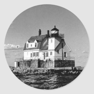 Rockland Harbor Breakwater Lighthouse Round Sticker