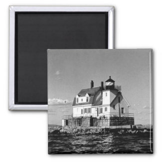 Rockland Harbor Breakwater Lighthouse Square Magnet