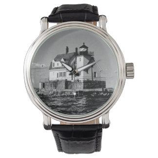 Rockland Harbor Breakwater Lighthouse Wrist Watches