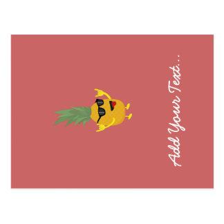 rock'n'roll pineapple postcard