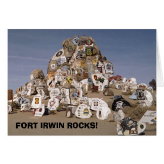 Rockpile, FORT IRWIN ROCKS! greeting card