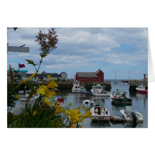 Rockport Harbour Note Card