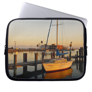 Rockport, Texas harbor at sunset Laptop Sleeve