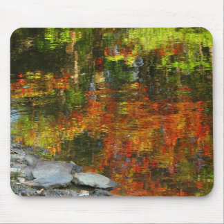 Rocks and Autumn Reflections Mouse Pads