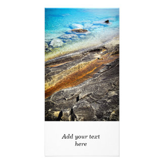 Rocks and clear water background custom photo card