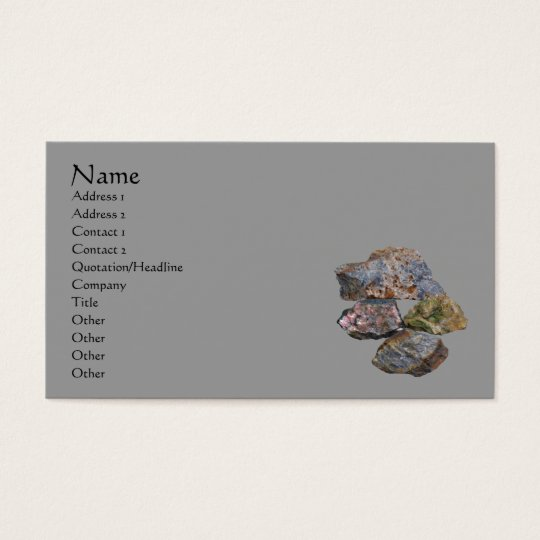 Rocks And Minerals Business Card