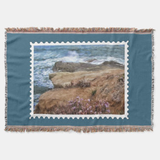 Rocks and Plants at Ocean's Edge Stamp