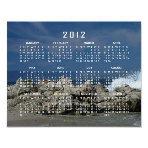 Rocks and Splashes; 2012 Calendar Posters