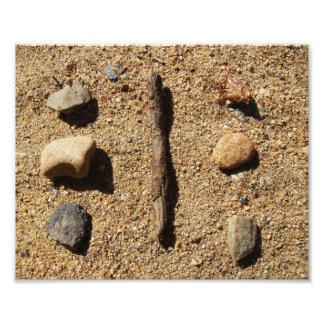 Rocks And Stick Art Photo