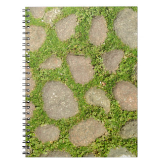 rocks and stones as background spiral note book
