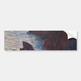 Rocks at Belle-lle, Port-Domois by Claude Monet Bumper Stickers