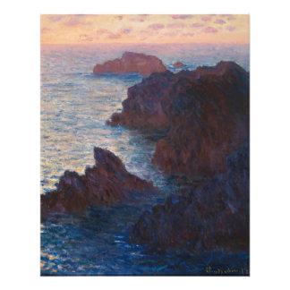 Rocks at Belle-lle, Port-Domois by Claude Monet Photo Art