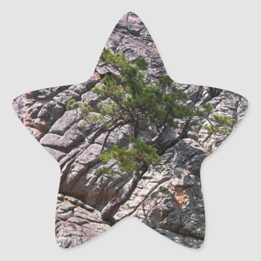 Rocks at Robber's Cave State Park Star Sticker