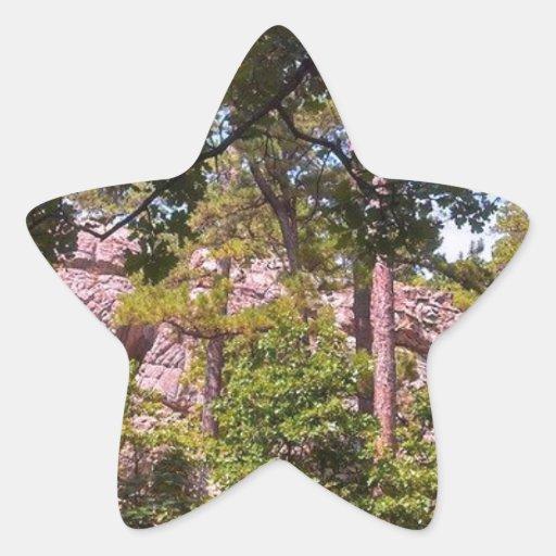 Rocks Below Robber's Cave Star Sticker