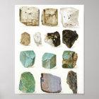Rocks & Gems Vintage Geology Encyclopaedia Poster