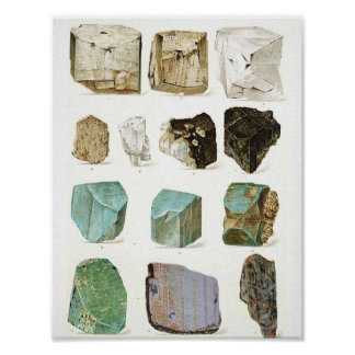 Rocks & Gems Vintage Geology Encyclopedia Poster
